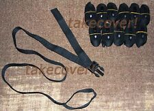 """12x BOAT COVER TIE DOWN STRAP KIT 1"""" x 55"""" w/ MALE END & Strap loop"""