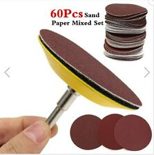 60pcs Sand Paper Mixed Set With 3 Inch Abrasives Hook And Loop Sanding Pad
