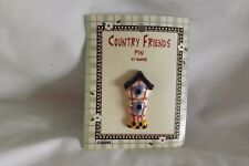 new 2 inches Colorful Birdhouse Ceramic pin by Ganz
