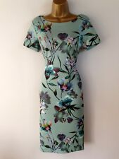 Marks and Spencer Shift Dress UK Size 8 Womens Scuba Mint Green Floral