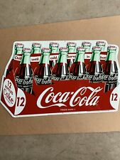 VINTAGE 12 Bottle COCA COLA EMBOSSED SIGN SODA 19x11.5