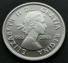 *** CANADA  25  CENTS  2003 ***  PROOF  ULTRA  HEAVY  CAMEO  ***  CORONATION ***