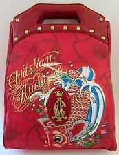 79228ac31319 Rare Christian Audigier Los Angeles Large Red Tote