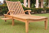 ND Grade-A Teak Outdoor Garden Patio Steamer Chaise Sun Lounger Furniture New