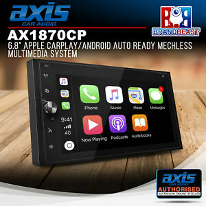"""Axis AX1870CP 6.8"""" Apple CarPlay/Android Auto Ready Mechless Multimedia System"""
