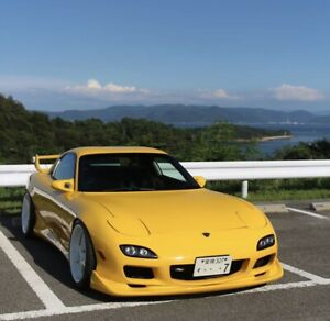 Fiberglass RE Amemiya AD Style Front Lip And Side Skirts To Fit RX7 FD3s 93-02