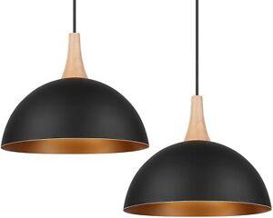 Ceiling Pendant Light Shade Industrial Chandelier Lamp E27 Base Dining 2 pcs set