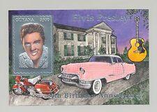 Guyana MI #BL404 Elvis, Automobiles, Motorcycles 1v Silver S/S