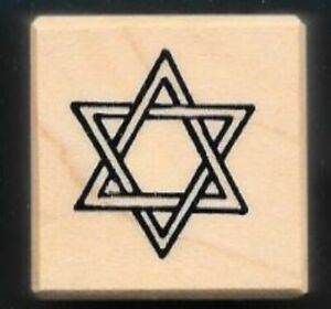 STAR OF DAVID PSX A-1035 Santa Rosa 1999 wood mount Religious RUBBER STAMP