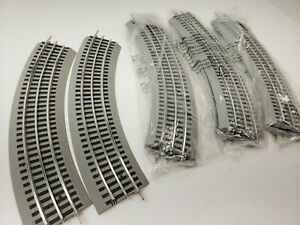 LIONEL FAST TRACK O-36 CURVE SECTIONS EIGHT (8) SECTIONS INCLUDED SEE DESCRIPTIO