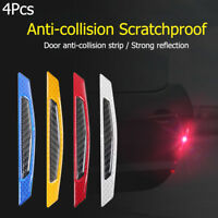 4Pcs Car Door Reflective Safety Warning Strip Anti-Collision Sticker Protector~~