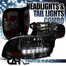 1997-2004 Dodge Dakota Smoke Crystal SMD LED Headlights+Tinted Altezza Tail Lamp