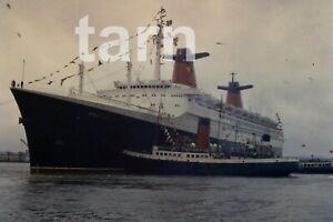 35mm slide Shipping scene France Southampton 1960s r173