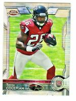 2015 Topps Chrome Mini PULSAR REFRACTOR #121 TEVIN COLEMAN RC Atlanta Falcons
