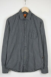 HUGO BOSS ORANGE LABEL ESLIME SLIM FIT Men's MEDIUM Checked Shirt 41531_GS