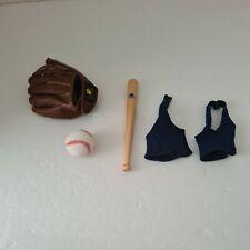 More details for build a bear baseball set bat glove and ball rare accessories