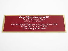 Joe Montana Autograph Nameplate San Francisco 49ers Autograph Helmet Jersey
