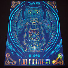 Foo Fighters Poster 7/19/2015 Fenway Boston Ma Signed & Numbered #/50 A/E Foil