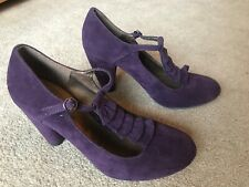Dorothy Perkins Purple Suede Court Style High Heeled Shoes Uk 6