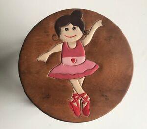 Childrens/Childs/Kids Wooden Stool - Ballet Dancer