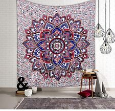 Ombre Mandala Tapestry Indian Wall Hanging Bohemian Hippie Queen Bedspread Throw