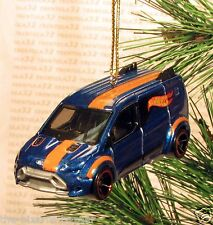 FORD TRANSIT CONNECT Van CHRISTMAS ORNAMENT Blue/Black/Orange rare XMAS
