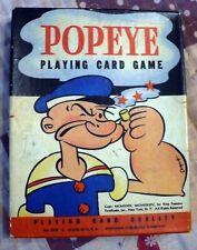 1939 Whitman Popeye Playing Card Game Complete King Blozo,Rough House,Oscar