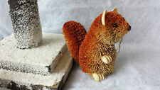 Gisela Graham Bristle Animals Hanging Decoration Rabbit Christmas Hedgehog Fox