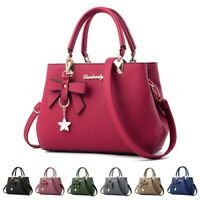 Women Faux Leather Handbag Shoulder Bag Purse Tote Messenger Satchel Crossbody