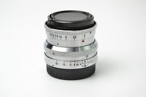 Biotar 58mm f/2 Lens M42 Red T Silver 17 blades S/N 3421158, SERVICED!