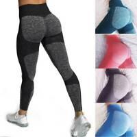 Women High Waist Comfort Seamless Workout Pants Gym Leggings Fitness Yoga Pants