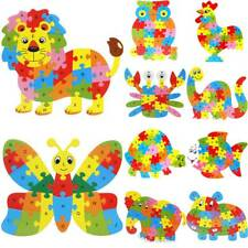 Wooden Puzzle Baby Toddler Jigsaw Alphabet Letters Animal Learning Puzzlen Toys