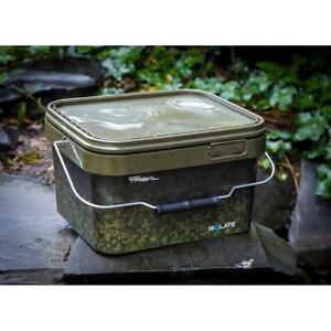 Shimano Tribal Sync 5Ltr Green Camo Square Bucket