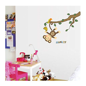 Hanging Monkey Wall Stickers, Peel & Stick, Removable, High Quality PVC