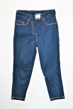 Millers Brand Blue Flat Elastic Waistband Slim Fit Crop Jean Size 8 BNWT #SO96