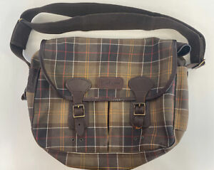 Barbour Tartan Satchel Bag Tarras Medium Classic Brown Cross Body Bag