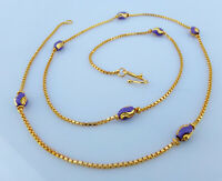 Indian Fashion Jewelry Ethnic Gold Plated Long Necklace 22k Light Chain Mala 22""