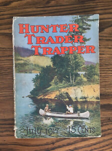 Vintage 1917 Hunter Trader Trapper magazine~Canoe Fishing Guide~Winchester Ad