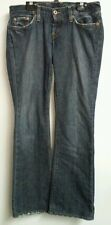 Lucky Brand Lil Maggie Jeans Sz 2/26 Low Rise Button Fly Dark Wash Flare Leg EUC