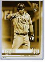 Nate Lowe 2019 Topps Update Variations 5x7 Gold #US291 /10 Rays