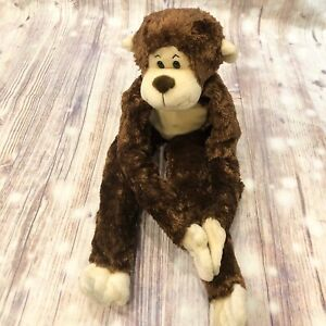 "MONKEY Plush Long Arms Legs Brown 30"" Hanging Floppy Soft Toys R Us Animal Alley"