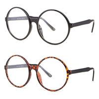 Clear Lens Oversized Huge Large Round Cosplay Glasses Black Plastic Eyeglasses