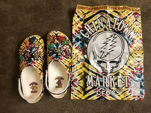 NEW Grateful Dead x Chinatown Market CROCS LIMITED EDITION Mens Size 11