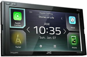JVC KW-M750BT Double DIN Digital Media Receiver w/ Apple CarPlay & Android Auto