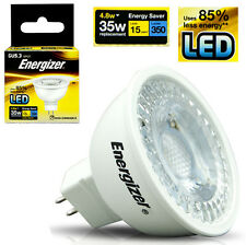 10 Energizer LED GU5.3 MR16 High Power Spotlamp 12v Energy Saving Bulb 4.8w=35w