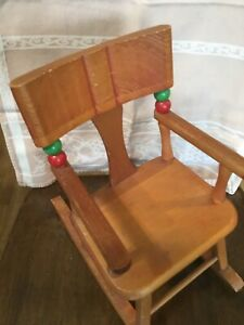 Vintage Rare Large Strombecker MADE IN USA Rocking Chair for Dolls Excellent