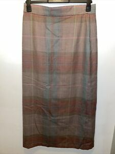 Droopy & Browns AMH Houndstooth Patterned Vintage Wool Skirt Size 16 Read Descri