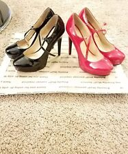 2 pair women chinese laundry black/red pump/ heels size 10