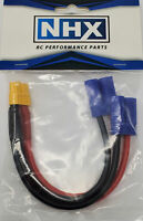 """NHX XT60 Female to 2 EC5 Male Parallel 12 AWG 6"""" Silicone Wire Harness"""
