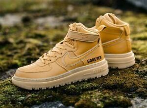 Nike Air Force 1 GORE-TEX Waterproof Boot Wheat Flax CT2815-200 Men's NEW